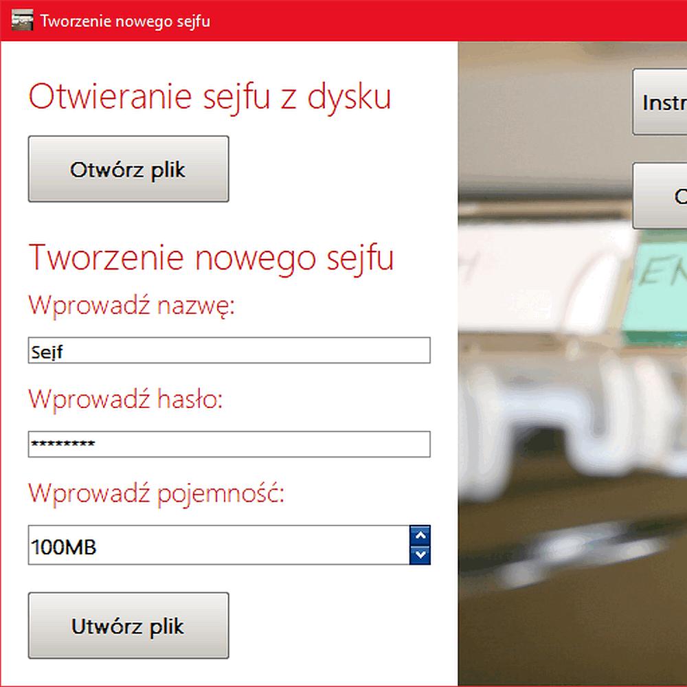 Sejf plików dla systemu Windows