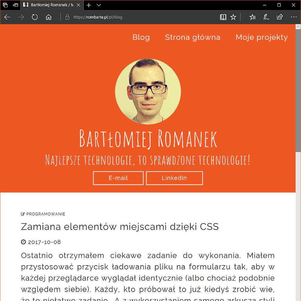 Moja prywatna strona internetowa