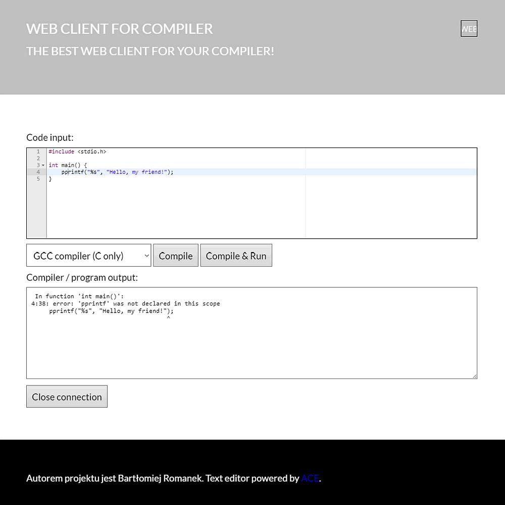 System zdalnej kompilacji kodu źródłowego